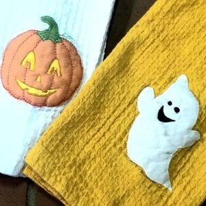 Other - Set of two embroidered Halloween Hand Towels